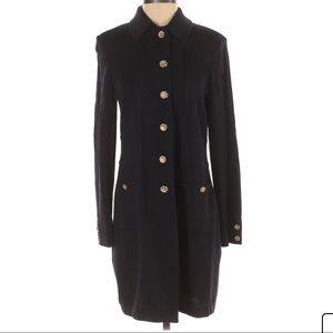 ST. JOHN Basics Long Wool Coat, 12